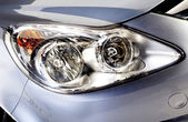 Car head lights in silver — 图库照片