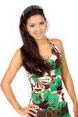 Girl wearing a summer dress — Stock Photo