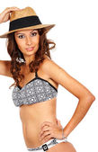 Fashion bikini girl — Stock Photo