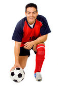 Professional footballer — Stock Photo