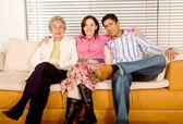 Hispanic family portrait — 图库照片