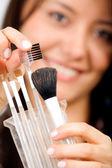 Make up brushes — Stock Photo
