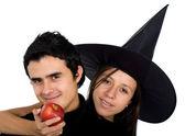 Par de manzana podrida — Foto de Stock