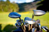 Golf clubs close up — Stock Photo