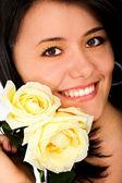 Fashion woman portrait - smiling — Stock Photo