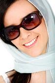 Mode vrouw portret - glimlachen — Stockfoto
