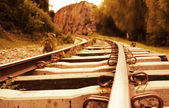 Iron railtrack — Stock Photo