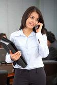 деловая женщина на телефоне — Стоковое фото
