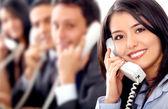 команда обслуживания клиентов — Стоковое фото