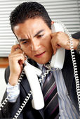 Busy business man — Stock Photo