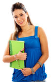 Studentessa con notebook — Foto Stock