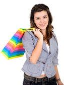 Mädchen einkaufen — Stockfoto