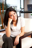 Casual woman at home — Stock Photo