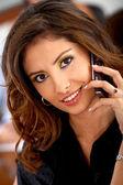 Telefondaki kadın iş — Stok fotoğraf
