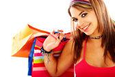 Woman out shopping — Стоковое фото