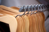 Hangers in a row — Stock Photo