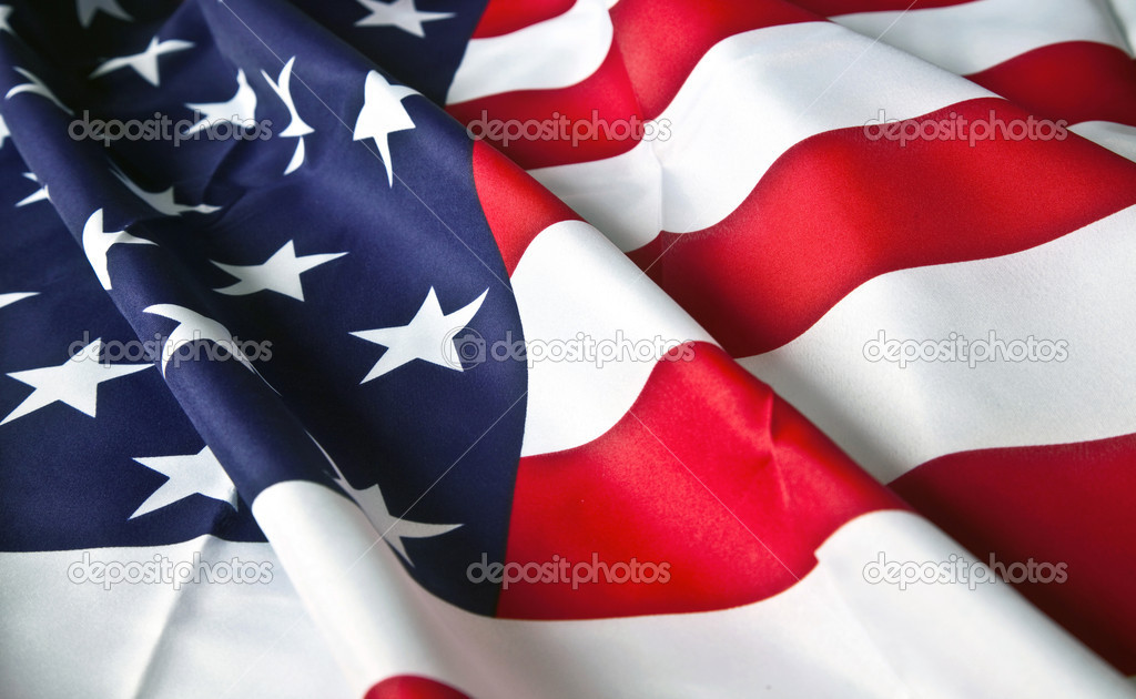 Picture of the American flag with wavy texture  Stock Photo #7770650