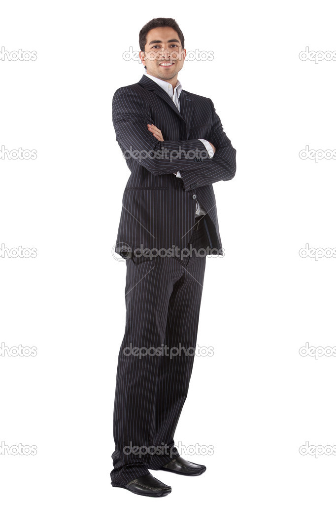 Handsome business man - isolated over a white background — Stock Photo #7770830