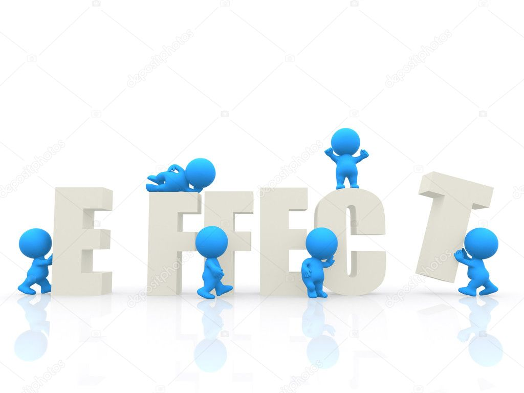 3D around the word effect isolated over a white background — Stock Photo #7771003