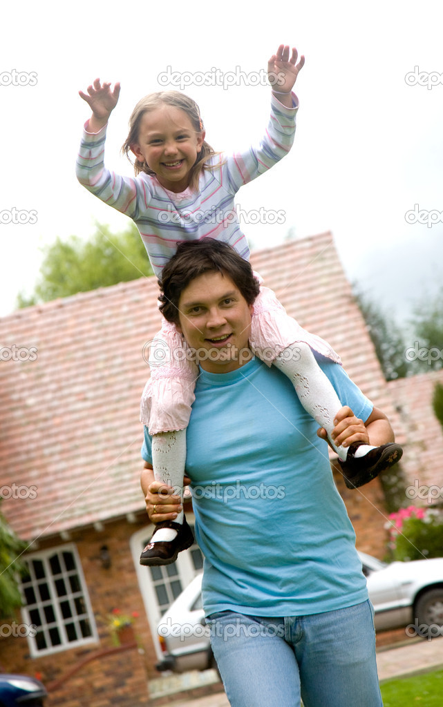Father and daugther having fun at home — Stock Photo #7772847