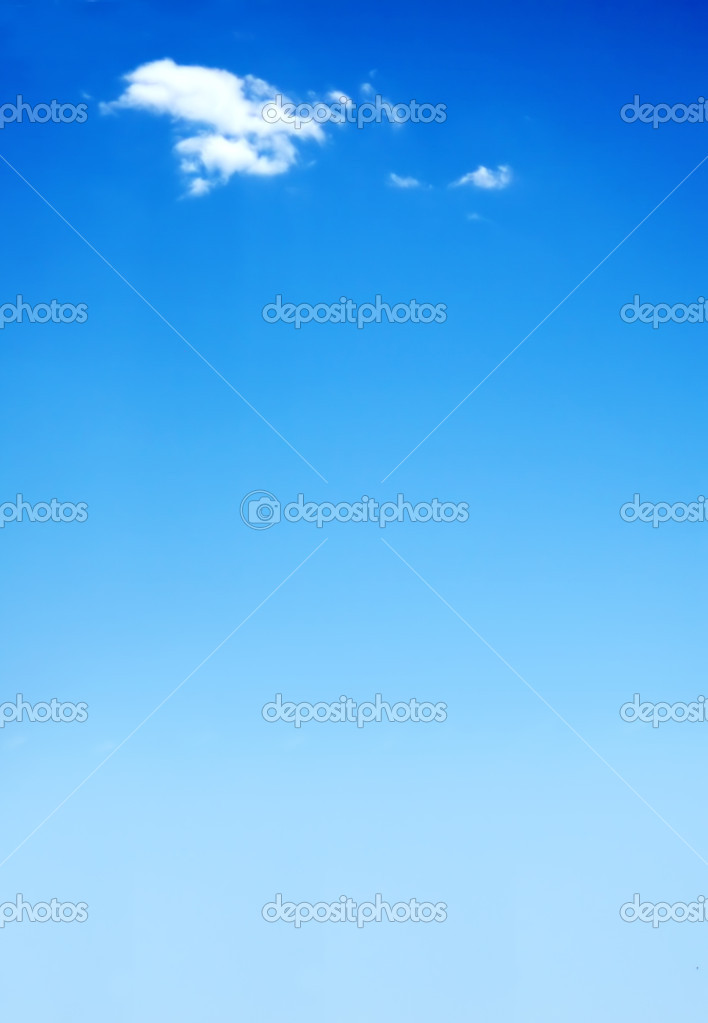 Beautiful blue sky illustration with a cloud at the top — Stock Photo #7773230