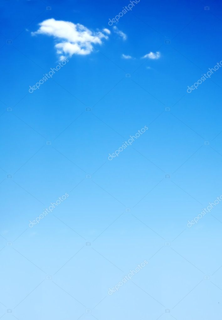Beautiful blue sky illustration with a cloud at the top — Photo #7773230