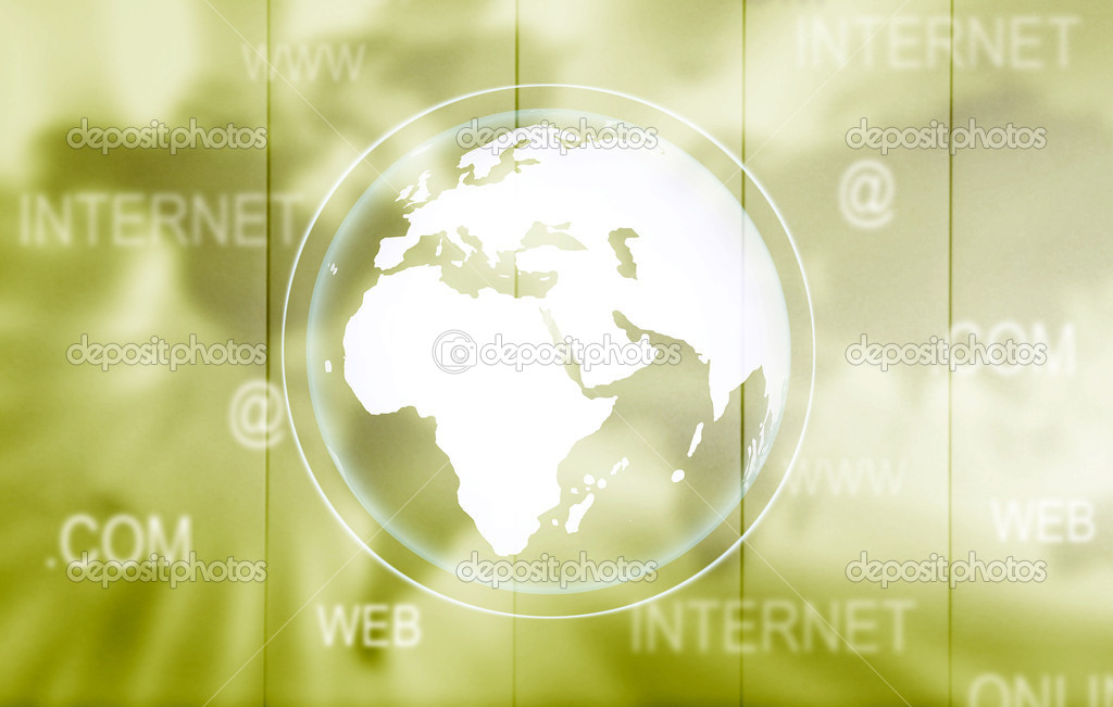 Green worldwide technology background - olive tone — Stock Photo #7773523