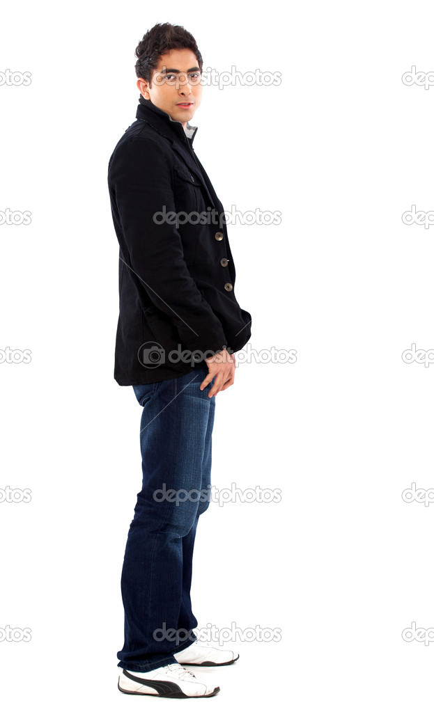 Business man smiling doing the okay sign over a white background — Stock Photo #7774699