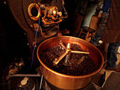 Coffee beans roasting — Stock Photo