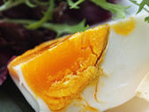 Close up of boiled egg — Stock Photo