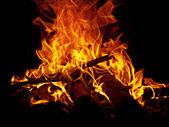 Warm toasty fire — ストック写真