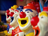 Clowns with opened mouth — Stock Photo