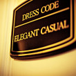 Dress code, Elegant casual sign — Stock Photo