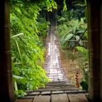 Wooden suspension bridge — Stock Photo #7656006