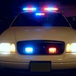 Police Car Lights — Stock Photo