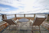 Waterfront Balcony on Whidbey Island, WA — Stock Photo
