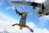 Skydiving photo — Stock Photo