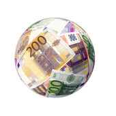 Sphere from paper money — Stock Photo