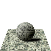 Sphere from banknotes on 100 dollars — Stock Photo