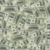 Denominations on 100 dollars — Stock Photo