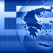 Greece news background information — Stock Photo