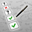 Mathematic test exam concept — Stock Photo