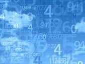 Blue sky numbers background — 图库照片