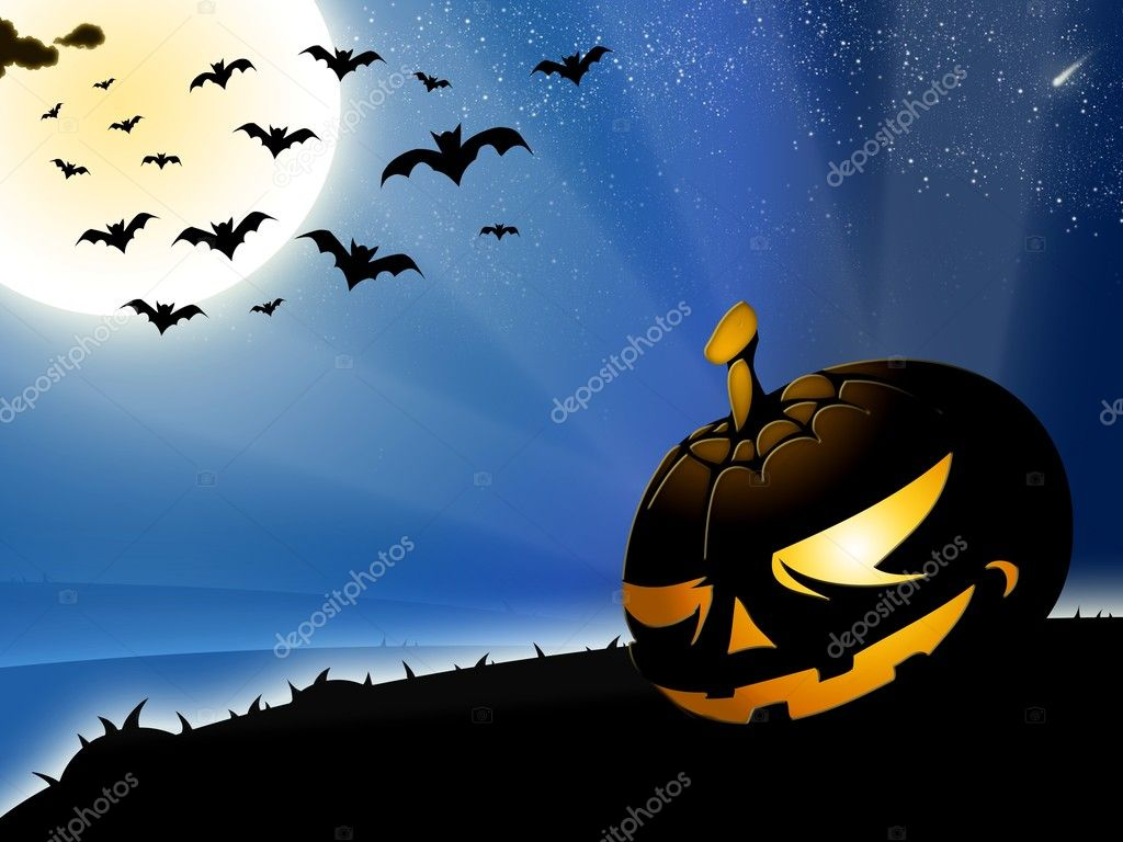 Halloween pumpkin background — Stock Photo #7617034