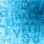 sfondo di lettere casuali — Foto Stock