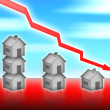 Stock Photo: House property value down