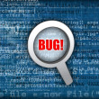Stock Photo: Code bug concept