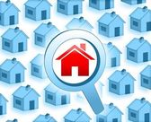 Look for a house — Stock Photo