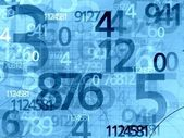 Numbers background — Stock Photo