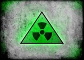 Radiation radioactive sign background wall — Stock Photo